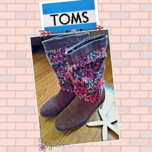 TOMS SUEDE SERRA SLOUCH BOOT